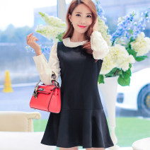 Dress Spring of 2019 S M L XL XXL Short skirt singleton  Sleeveless commute middle-waisted Solid color zipper other Others 25-29 years old Manna Korean version L20 More than 95% polyester fiber Polyester 97.6% polyurethane elastic fiber (spandex) 2.4%