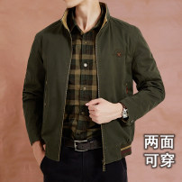 Jacket Jane don fashion Youth fashion Army green dark blue Khaki 170/M 175/L 180/XL 185/XXL 190/3XL 195/4XL routine easy Home spring qz9918 Cotton 100% Long sleeves Wear out stand collar Business Casual youth routine Zipper placket Straight hem washing Loose cuff Solid color Spring 2021 cotton