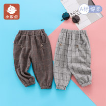 trousers decimal point female 73cm 80cm 90cm 100cm Grey coffee spring and autumn trousers leisure time No model Casual pants Leather belt middle-waisted cotton Open crotch Cotton 82% polyester 16.5% polyurethane elastic fiber (spandex) 1.5% Class A Women's trousers Autumn 2020 Chinese Mainland