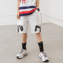 trousers Young master male 135cm 145cm 155cm 165cm 175cm White black summer shorts trend There are models in the real shooting Casual pants Leather belt middle-waisted cotton Don't open the crotch Cotton 100% IXZXC18 Class B Summer 2021 Chinese Mainland Shandong Province Weihai City