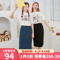 skirt Summer 2020 170/76A/XL,155/64A/S,165/72A/L,160/68A/M,175/80A/XXL Black skirt, blue and grey skirt, blue and grey trousers, black trousers Mid length dress High waist A-line skirt Solid color Type A 25-29 years old D026889Q00 51% (inclusive) - 70% (inclusive) Tricolor polyester fiber