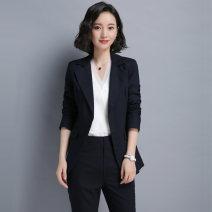 Professional pants suit S M L XL XXL XXXL Fall 2017 Shirt coat other styles Long sleeves trousers Shiluya 25-35 years old Acetate fiber (acetate fiber) 70% viscose fiber (viscose fiber) 30% Pure e-commerce (online only)