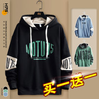 Sweater Youth fashion H-75 M L XL 2XL 3XL 4XL Geometric pattern Socket routine Hood spring easy leisure time teenagers tide routine W05 polyester fiber Polyester 95% polyurethane elastic fiber (spandex) 5% polyester fiber printing No iron treatment Spring 2021 Pure e-commerce (online only)