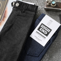 trousers Beijirog / Arctic velvet female 110cm 120cm 130cm 140cm 150cm spring and autumn trousers Korean version There are models in the real shooting Leggings Leather belt middle-waisted Don't open the crotch Autumn of 2019 Chinese Mainland