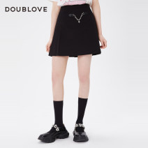 skirt Winter 2020 1/XS 2/S 3/M 4/L 5/XL 6/XXL black Short skirt Sweet Natural waist Pleated skirt Solid color Type X 25-29 years old DPGPA3106A 51% (inclusive) - 70% (inclusive) DOUBLE LOVE polyester fiber Chain fold Same model in shopping mall (sold online and offline) college