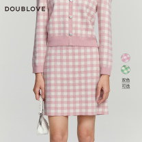 skirt Spring 2021 2/S 3/M 4/L 5/XL Pink Green Short skirt Sweet High waist A-line skirt other Type A 25-29 years old DFGPA9301A 31% (inclusive) - 50% (inclusive) other DOUBLE LOVE acrylic fibres Polyacrylonitrile 45.7% wool 41.6% others 12.7% Same model in shopping mall (sold online and offline)