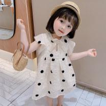 Dress White Beige skin pink female xiaoyongshi 90cm 100cm 110cm 120cm 130cm 140cm Other 100% summer Korean version Skirt / vest Dot other other XYSZX084-1 Class B Summer 2020 18 months, 2 years old, 3 years old, 4 years old, 5 years old, 6 years old, 7 years old, 8 years old