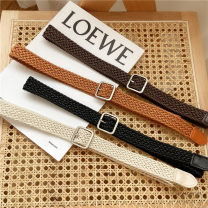 Belt / belt / chain canvas PD 1579 black PD 1579 coffee PD 1579 Khaki PD 1579 white female belt leisure time Single loop Middle aged youth Pin buckle other soft surface 2.5cm alloy weave Jianniu 100cm Summer 2020