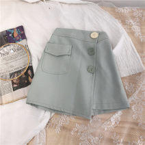 skirt 90cm,100cm,110cm,120cm,130cm,140cm Small pocket skirt Other / other female Cotton 90% other 10% spring and autumn skirt Korean version Solid color Suit skirt cotton Class B