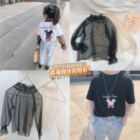 T-shirt Black, beige Other / other 80cm,90cm,100cm,110cm,120cm,130cm,140cm female spring and autumn Long sleeves Korean version There are models in the real shooting nothing other Dot Cotton 90% other 10% Class B