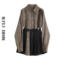 Fashion suit Autumn of 2019 S,M,L Check pattern 30% and below