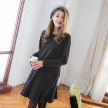 Dress Fall 2017 dark grey 2L 3L S M L XL Orange bear DA5063