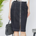 skirt Spring of 2019 M/160 L/165 XL/170 Middle-skirt Versatile Natural waist Type H 40-49 years old More than 95% Denim Kale cotton Cotton 99.5% polyurethane elastic fiber (spandex) 0.5%