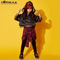 Children's performance clothes female 110cm 120cm 130cm 140cm 150cm 160cm 170cm 180cm Mlxjl / Magic Elf Class B Polyamide fiber (nylon) 96.5% polyurethane elastic fiber (spandex) 3.5% Autumn of 2018