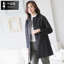 short coat Spring 2016 S M L XL Black apricot Long sleeves Medium length routine singleton  Straight cylinder commute raglan sleeve square neck Buckle Solid color 30-34 years old One stop 51% (inclusive) - 70% (inclusive) W-2016003 cotton Cotton 63% polyamide 25% polyester 12%