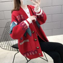 Wool knitwear Spring 2020 S M L XL White, red, blue Long sleeves singleton  Cardigan other More than 95% Regular routine commute easy other routine other Single breasted Korean version J15587 Shebetsy Pocket screw button Other 100% Exclusive payment of tmall