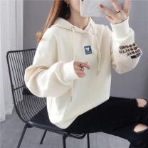 Sweater / sweater Spring 2021 Red orange rose off white lake blue dark blue S M L XL Long sleeves routine Socket singleton  routine Hood easy commute routine Cartoon animation 96% and above Shebetsy Korean version other X5105 Cotton liner Other 100%