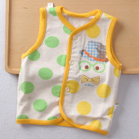Vest neutral 66cm,73cm,80cm,90cm Walibi spring and autumn Thin money No model Single breasted Pure cotton (100% content) Cartoon animation Cotton 100% Class A Cotton liner 3 months, 6 months, 12 months, 9 months, 18 months, 2 years old