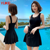 one piece  Yuke M (recommended weight 85-95 kg) l (recommended weight 95-105 kg) XL (recommended weight 105-115 kg) 2XL (recommended weight 115-130 kg) 3XL (recommended weight 130-150 kg) Skirt one piece With chest pad without steel support Spandex others Spring of 2019 no female Short sleeve