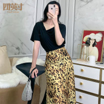 T-shirt Black white blue M L Summer 2020 Short sleeve other easy Regular routine commute other 96% and above 30-39 years old lady other Solid color Four inches / 4 inches Other 100%