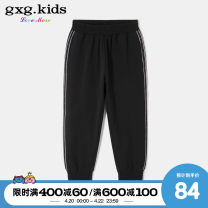 trousers gxg kids female 110cm 120cm 130cm 140cm 150cm black spring and autumn trousers No model Casual pants Leather belt middle-waisted Cotton blended fabric Don't open the crotch Cotton 95% polyurethane elastic fiber (spandex) 5% Class B Spring 2020
