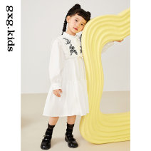 Dress White a white B female gxg kids 110/56 120/60 130/64 140/64 150/68 Cotton 100% spring and autumn leisure time cotton other KC235004A Class B Spring 2021 3 years old, 4 years old, 5 years old, 6 years old, 7 years old, 8 years old, 9 years old, 10 years old, 11 years old, 12 years old