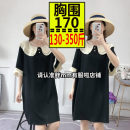Women's large Summer of 2019 black Dress singleton  commute easy thin Short sleeve Solid color Korean version other Medium length polyester Collage routine 25-29 years old 81% (inclusive) - 90% (inclusive) longuette Princess Dress Lotus leaf edge other