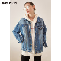 short coat Autumn of 2019 S M L XL Medium blue size is too big, order to contact customer service Long sleeves routine routine singleton  easy commute routine square neck Single breasted Solid color 18-24 years old Maxpearl / silk 96% and above ML818A612 cotton cotton Cotton 100%