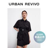 Dress Summer 2021 It's black S XL L M Short skirt singleton  Short sleeve other middle-waisted other 25-29 years old UR YV10S7EN2003 51% (inclusive) - 70% (inclusive) other cotton Cotton 61% polyamide fiber (nylon) 34% polyurethane elastic fiber (spandex) 5%