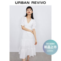 Dress Summer 2021 Benbai S XL L M Mid length dress 25-29 years old UR YL12V7EN2000 More than 95% cotton Cotton 100% Same model in shopping mall (sold online and offline)