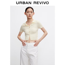 Wool knitwear Summer 2021 S XL XS L M XXL Light yellow black Short sleeve Viscose 81% (inclusive) - 90% (inclusive) Regular other WG14R9BE2000 25-29 years old UR Viscose (viscose) 83% polyamide (nylon) 17% Same model in shopping mall (sold online and offline)