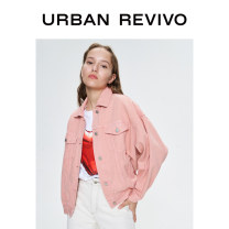 short coat Spring 2020 S XS L M Light pink Long sleeves 25-29 years old UR 96% and above YV04SBYN2000 cotton Cotton 100% Same model in shopping mall (sold online and offline)