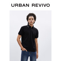 T-shirt Fashion City It's black routine S XL L M XS XXL UR Short sleeve Lapel Self cultivation Other leisure summer MF15R4NE2002 Cotton 63% polyester 37% youth routine Summer 2020 Same model in shopping mall (sold online and offline)