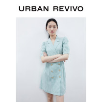 Dress Summer 2020 Green lattice S XL XS L M XXL Short skirt Short sleeve tailored collar middle-waisted Socket bishop sleeve 25-29 years old UR WE20R7BF2000 51% (inclusive) - 70% (inclusive) other cotton Cotton 51% modal fiber (modal) 49% Same model in shopping mall (sold online and offline)