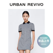 Dress Summer 2021 Light purple lattice dark black gray lattice red lattice S M L XL Short skirt Short sleeve other middle-waisted lattice other 25-29 years old UR YU06R7FN2001 More than 95% polyester fiber Polyester 98% polyurethane elastic fiber (spandex) 2%