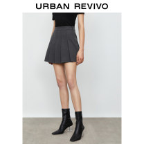 skirt Spring 2021 XXS S XL XS L M dark grey Short skirt Natural waist 25-29 years old YU05S5AE2001 51% (inclusive) - 70% (inclusive) UR polyester fiber Polyester 63% viscose (viscose) 34% polyurethane elastic (spandex) 3% Same model in shopping mall (sold online and offline)