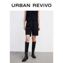 Casual pants It's black XXS S XS L M Summer 2021 shorts Straight pants Natural waist 25-29 years old YV10S6BN2001 UR cotton Polyester 66% viscose 34% Same model in shopping mall (sold online and offline)