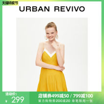 Dress Winter of 2019 Ginger, pink, green and black S XL L M Mid length dress Sleeveless V-neck Socket 25-29 years old UR WE36R9FF2001 31% (inclusive) - 50% (inclusive) nylon Viscose fiber (viscose fiber) 64% polyamide fiber (nylon) 36% Same model in shopping mall (sold online and offline)