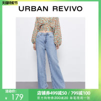 Jeans Summer 2020 blue S XL XS L M XXL trousers Natural waist Straight pants 25-29 years old WE22SBKN2002 UR 81% (inclusive) - 90% (inclusive) Cotton 88% viscose 12% Same model in shopping mall (sold online and offline)