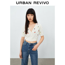 Wool knitwear Summer 2021 S XL L M ivory Short sleeve cotton 51% (inclusive) - 70% (inclusive) Regular YL13S9DN2000 25-29 years old UR Cotton 56% polyacrylonitrile fiber (acrylic fiber) 44% Same model in shopping mall (sold online and offline)