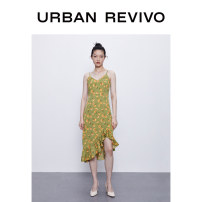 Dress Summer 2020 Green printing green printing 1 S M L XL Middle-skirt Sleeveless other middle-waisted routine 25-29 years old UR More than 95% other polyester fiber Polyester 100% Same model in shopping mall (sold online and offline)