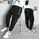 trousers More comfortable male 110cm 115cm 120cm 125cm 130cm 135cm 140cm 145cm 150cm 155cm 160cm Comfortable multi 3817 black all in one velvet comfortable multi 3817 black spring and autumn trousers leisure time There are models in the real shooting Casual pants Leather belt middle-waisted cotton