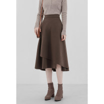 skirt Autumn 2020 S M L XL Coffee black longuette Versatile High waist A-line skirt Solid color 18-24 years old M20565 Beautiful relatives Pure e-commerce (online only)