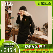 Dress Winter 2020 Magic black S M L Mid length dress singleton  Long sleeves commute Hood Loose waist Socket A-line skirt routine 18-24 years old Type A Goblin's pocket Retro 1040_ AL0126 More than 95% other Other 100% Same model in shopping mall (sold online and offline)