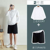 Jacket Rzmen Youth fashion M L XL 2XL 3XL 4XL 5XL 6XL 7XL 8XL thin Extra wide Other leisure summer Polyester 100% Long sleeves Wear out Crew neck tide youth routine Zipper placket Straight hem No iron treatment Closing sleeve Solid color Summer 2020 Bag digging with open cut thread