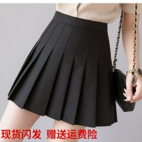 skirt Summer 2020 M,L,XL,2XL,3XL,4XL black Short skirt commute High waist Pleated skirt Solid color Type A 81% (inclusive) - 90% (inclusive) other other Korean version 121g / m ^ 2 (including) - 140g / m ^ 2 (including)