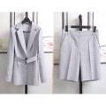 Fashion suit Spring 2021 S,M,L Blue suit, blue shorts 3300 Suit Shorts suit 30% and below cotton
