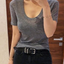 T-shirt Red, gray, black and white are sexy Average size Summer of 2018 Short sleeve Crew neck easy Regular routine commute cotton 71% (inclusive) - 85% (inclusive) 25-29 years old Korean version youth Solid color New women's wear