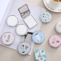 Make up mirror Square Flamingo round cactus round cat round fruit round tea cup series round cherry Cosmetic mirror Personal washing / cleaning / care Without light Tiger Knight Metal Dressing Room one thousand and thirty-nine Cartoon Japanese