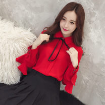 shirt White red S M L XL 2XL Spring of 2019 other 96% and above Long sleeves commute Regular Polo collar Solid color 25-29 years old LK2003 Korean version LK181-7624 Other 100% Pure e-commerce (online only)